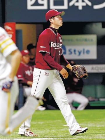 1回、今宮に先制二塁打を許した東北楽天・古川
