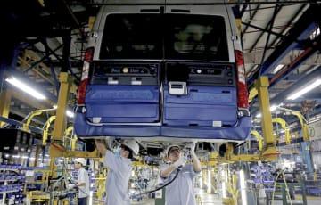 ベトナムにある米フォード・モーターの自動車工場=4月(ロイター=共同)