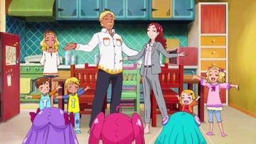 アニメ「スター☆トゥインクルプリキュア」の第14話「笑顔 de パーティ!家族のソンリッサ」の一場面(C)ABC-A・東映アニメーション