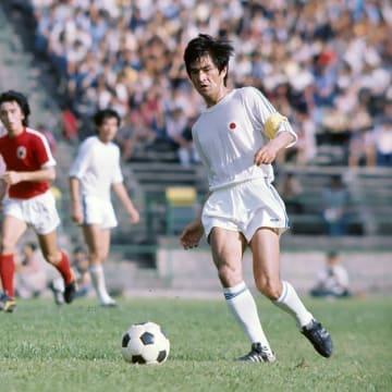 1975年、第6回アジアカップ予選香港戦の森孝慈選手