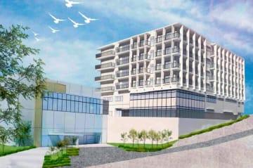 聖ヨゼフ病院の新棟の完成イメージ(同病院提供)
