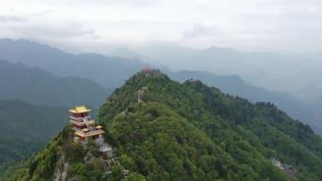 上空から見る南五台 陝西省西安市