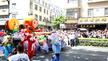 フロートパレードに熱狂 中国国際アニメ·マンガフェスティバル