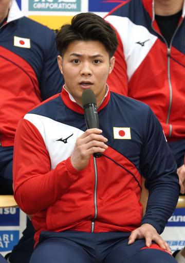柔道世界選手権への意気込みを語る男子66キロ級の阿部一二三=5日、東京都北区の味の素ナショナルトレーニングセンター