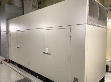 北海道内の災害拠点病院に設置された非常用発電機