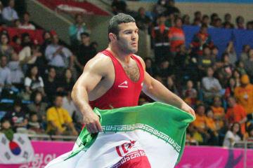 米ロ対決が注目されている男子フリースタイル97kg級に挑むレザ・ヤズダニ(イラン)