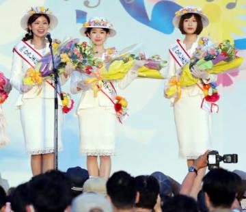 充実したFFの3日間を振り返り、感謝を伝える恵美さん(左)、山本さん(中)、日下さん