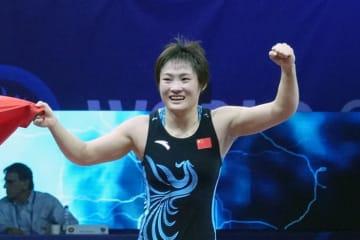 57kg級の第1シードを確実にした世界&アジア女王の栄寧寧(中国)