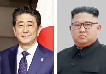 安倍晋三首相、北朝鮮の金正恩朝鮮労働党委員長
