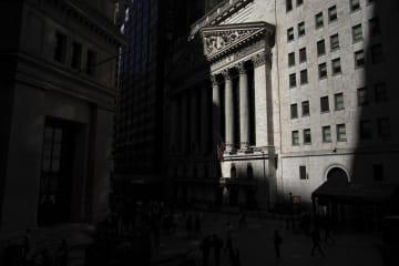6日のニューヨーク証券取引所(ゲッティ=共同)