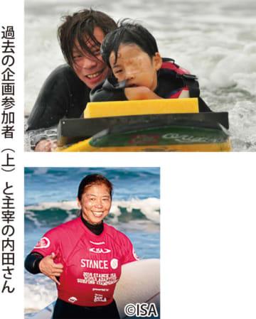世界選手権2連覇!内田一音さんによる障害者サーフィン体験会@由比ヶ浜海岸