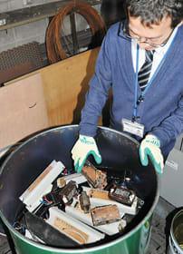 室蘭市が保管している公共施設で回収したPCB安定器など