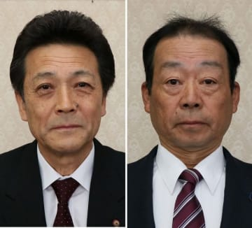 金田豊治氏(左)と大上伊三男氏