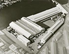 太平洋戦争開戦前に完成、1970年代半ばまで主力工場だった鶴見工場=月島機械提供