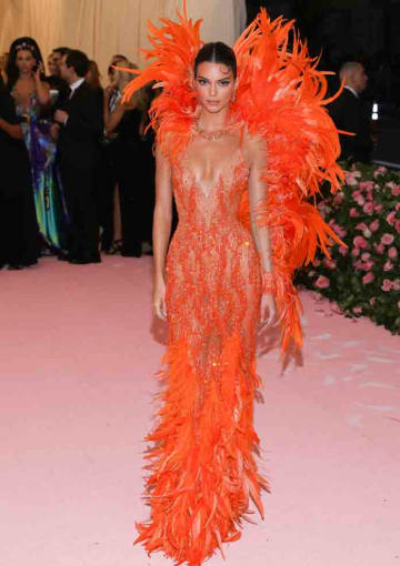 The 2019 Met Gala Celebrating Camp: Notes On Fashion at The Metropolitan Museum of Art on May 6, 2019 in New York City: Kendall Jenner