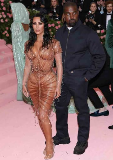 The 2019 Met Gala Celebrating Camp: Notes On Fashion at The Metropolitan Museum of Art on May 06, 2019: Kim Kardashian & Kanye West