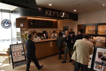 東北新幹線七戸十和田駅内にオープンするKEY'S CAF〓=8日