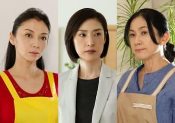 ドラマ「緊急取調室」の第5話に出演する(左から)国分佐智子さん、主演の天海祐希さん、真野響子さん(C)テレビ朝日