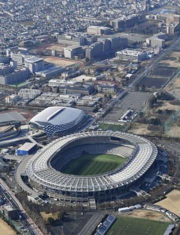 ラグビーW杯日本大会の開幕戦が行われる味の素スタジアム=東京都調布市