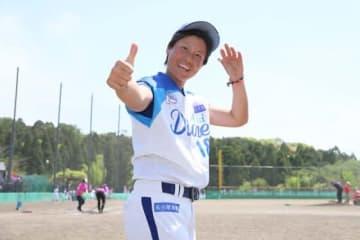 5回から3番手で登板した愛知ディオーネ・里綾実【写真提供:日本女子プロ野球リーグ】