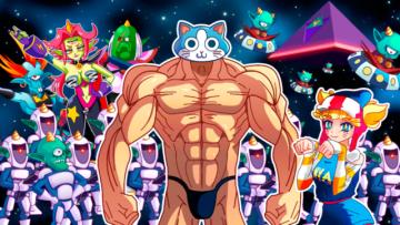 90年代日本アニメ風ACT『KINNIKUNEKO』Kickstarter開始ー主人公はパンイチムキムキ猫【UPDATE】