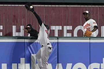 本塁打強奪のスーパープレーを見せたレッドソックスのジャッキー・ブラッドリーJr.【写真:AP】