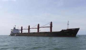 米政権が押収した北朝鮮の運搬船(米司法省提供・AP=共同)