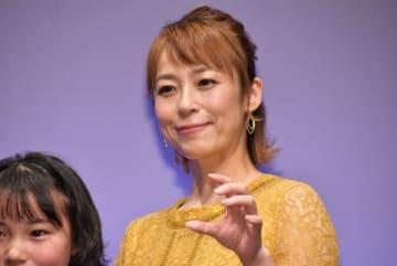映画「貞子」の完成披露試写会に登場した佐藤仁美さん