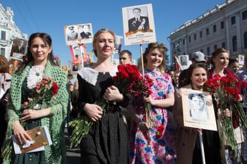 「不滅の連隊」パレード開催 ロシア·サンクトペテルブルク
