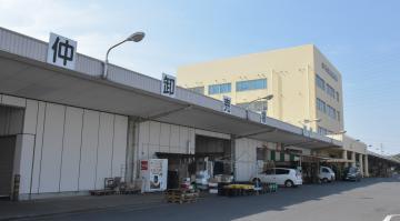 2028年度までに再整備する水戸市公設地方卸売市場=同市青柳町