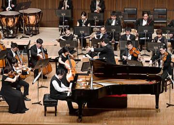 横山幸雄さんがソリストを務めた山形交響楽団の定期演奏会=山形市・山形テルサ