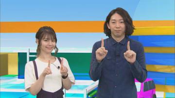 「アニゲー☆イレブン!」の第186回に登場するLynnさん(左)と松本慶祐監督=BS11提供
