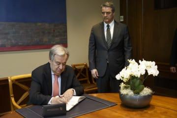 国連事務総長、貿易紛争の解決「多国間の対話重要」