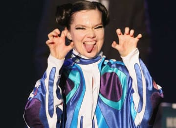 CHIBA, JAPAN - JULY 2: Iceland's Bjork performs on stage at 'Live 8 Japan' at Makuhari Messe on July 2, 2005 in Chiba, east of Tokyo, Japan. The free concert is one of ten simultaneous international gigs including Philadelphia, Berlin, Rome,...
