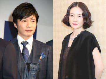 連続ドラマ「あなたの番です」でダブル主演する田中圭さん(左)と原田知世さん