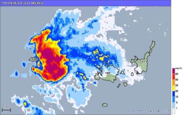 13日午前11時30分の雨雲の様子。出典:気象庁ホームページ