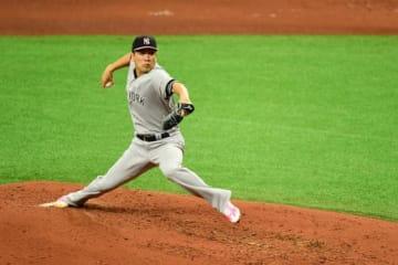 レイズ戦に先発登板したヤンキース・田中将大【写真:Getty Images】