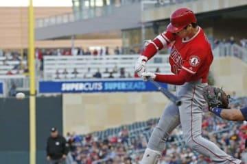 第2打席で今季1号本塁打を放ったエンゼルス・大谷翔平【写真:AP】
