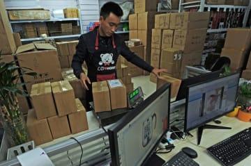中国上場小売りEC企業23社、18年売上高は1兆3500億元