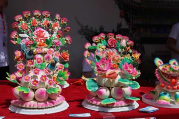 民間の知恵の結晶「花饃」、陝西省で芸術祭