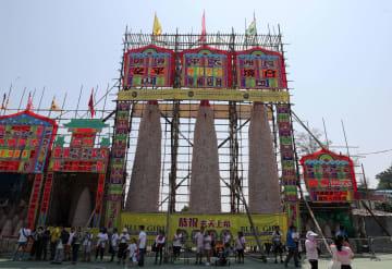 伝統行事「長洲太平清醮」開催 香港長洲島