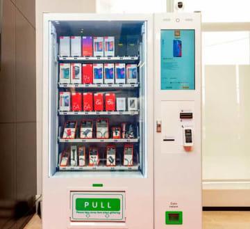 シャオミの専用自販機。大都市を中心に設置を進めるという(同社提供)