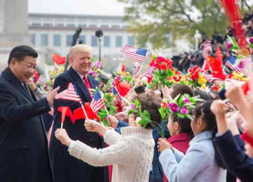 Description: English: President Donald J. Trump and First Lady Melania Trump arrive in China  November 8, 2017 (Official White House Photo by Shealah Craighead) Date 8 November 2017 Source President Trump's Trip to Asia Author The White House...