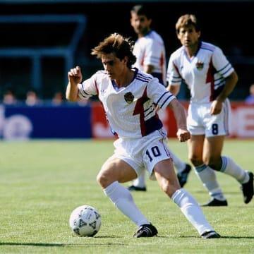 1990年6月26日スペイン対ユーゴスラビア戦のストイコビッチ選手