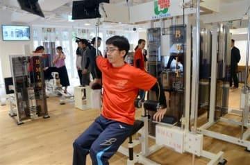 鶴屋百貨店が15日にプレオープンさせたフィットネスジムは「コト消費」の流れをつくるのが狙いだという=熊本市中央区