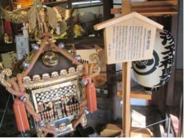 ふれあい伝承館での浅子神輿の展示