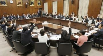 ドローン規制法改正案を賛成多数で可決した参院内閣委=16日午後