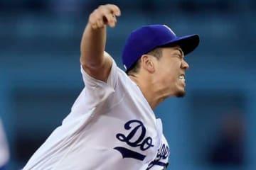 12三振を奪う快投を披露したドジャース・前田健太【写真:AP】