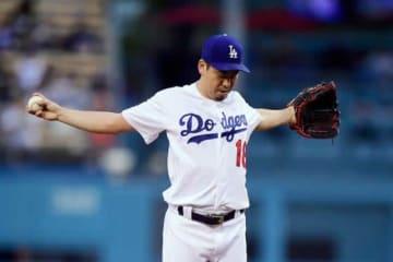 12奪三振、2打点の活躍で5勝目を挙げたドジャース・前田健太【写真:AP】