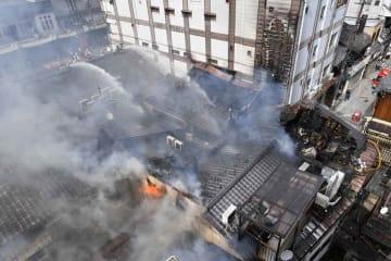 昨年5月に日本料理店から出火した火災の現場(京都市東山区祇園町南側)